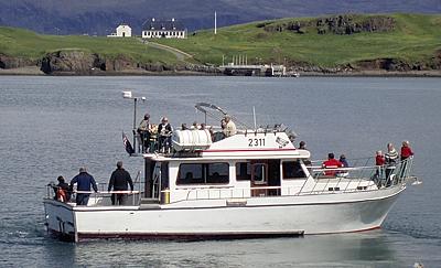 Walbeobachtungsboot Gestur