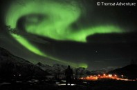 The aurora borealis, or Northern Lights, are seen near the city of Tromsoe, northern Norway, late Tuesday, Jan. 24, 2012. Stargazers were out in force in northern Europe on Tuesday, hoping to be awed by a spectacular showing of northern lights after the m